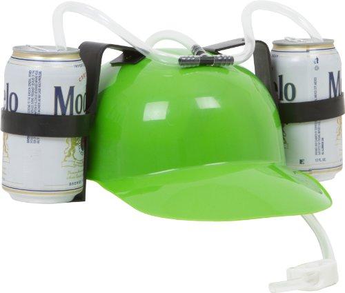 Beer-and-Soda-Guzzler-Helmet-Green-0