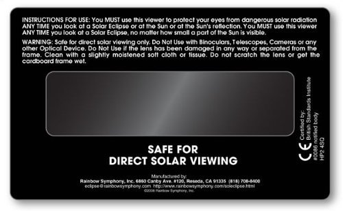 backside of solar eclipse viewer