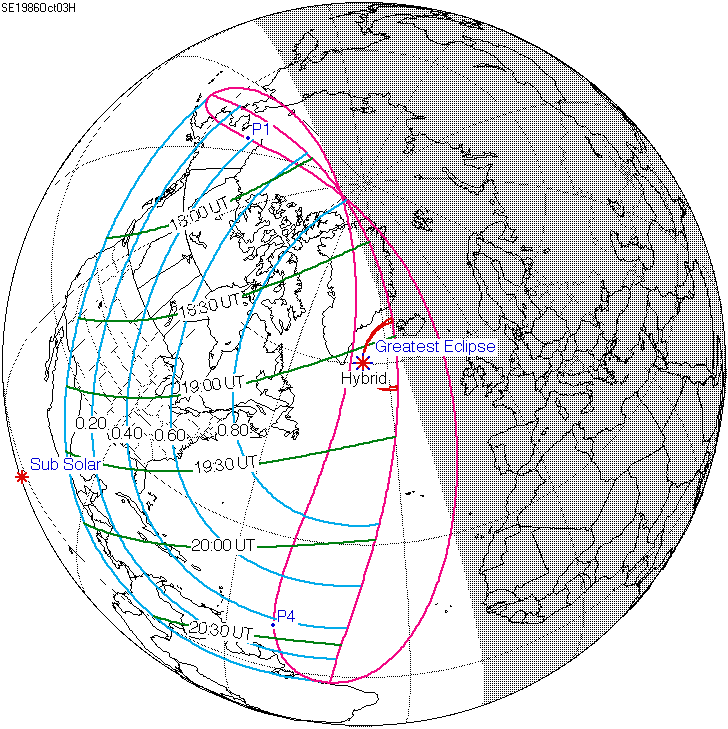 Solar eclipse of October 3, 1986