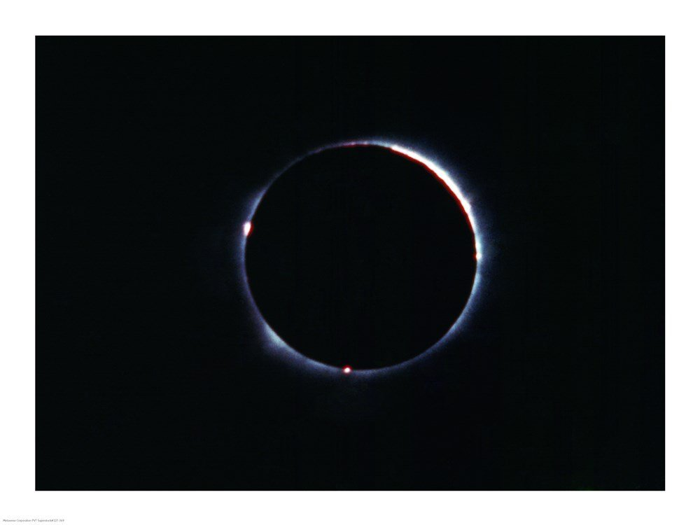 Print of a Total Solar Eclipse on November 21st, 1960