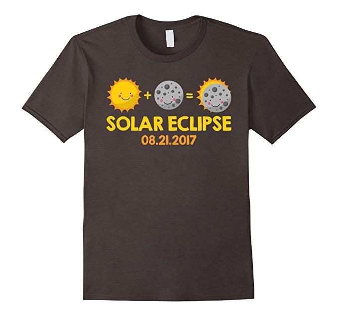 Kids Cartoon T-Shirt for the August 21st, 2017 Total Solar Eclipse - asphalt