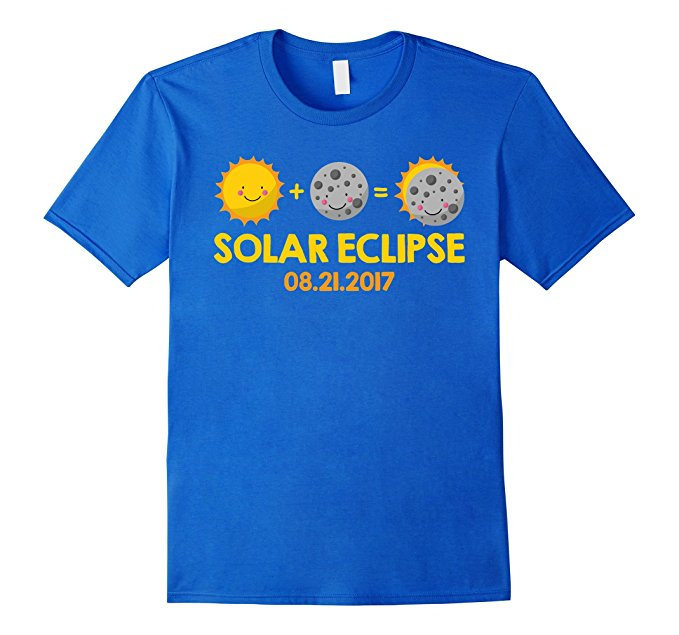 Kids Cartoon T-Shirt for the August 21st, 2017 Total Solar Eclipse