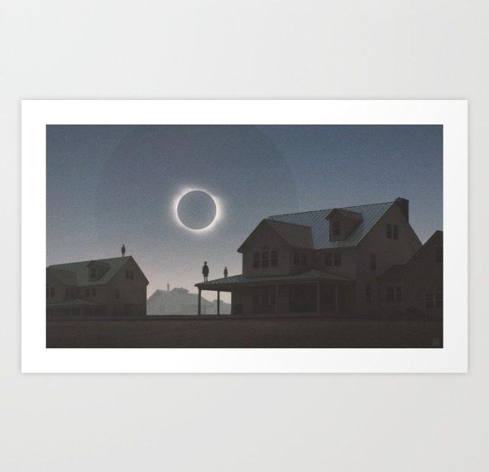 """""""Solar Eclipse"""" Print by Yuri Schwedoff"""