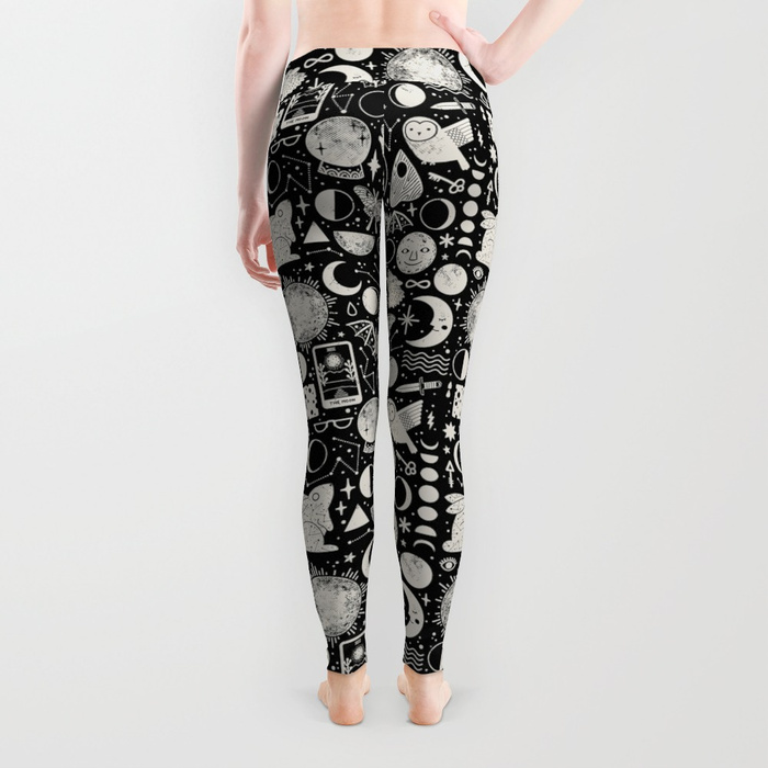 Lunar Pattern Eclipse Leggings  from the front