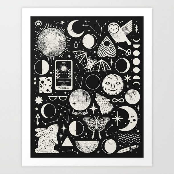 """Lunar Pattern: Eclipse"" Print by LordofMasks"