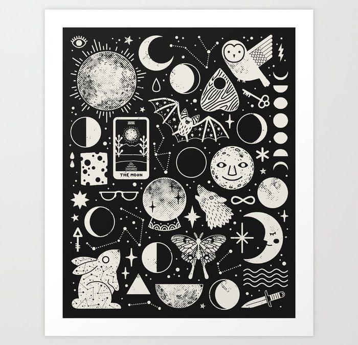 """Lunar Pattern: Eclipse"" Print by LordofMasks"