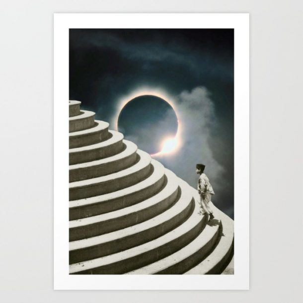 """Solar Eclipse"" Print by HHeininge Art"