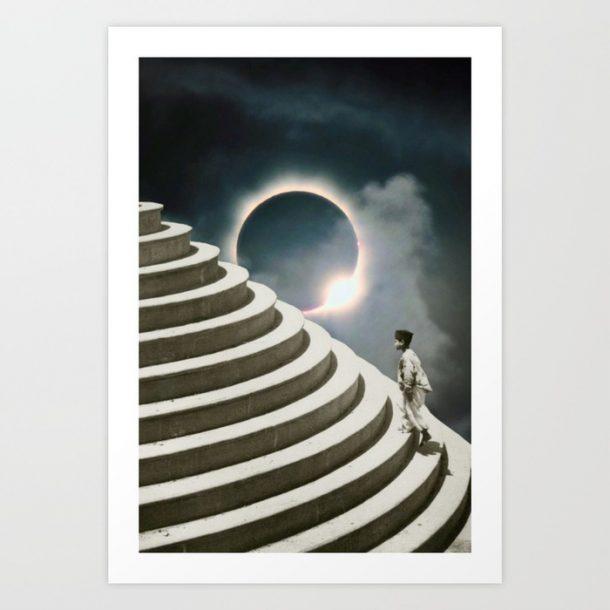 """Solar Eclipse"" Print by HHeininge Art"